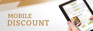 5% discount when you book through your mobile phone.
