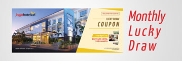 Get 1 lucky draw coupon for every Rp. 250.000 spent. Up to 100 winners monthly. Win a complimentary night's stay at Eastparc Hotel, Yogyakarta. First draw will be held on August 2017.